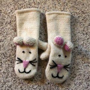 Accessories - Fleece lined bunny mittens